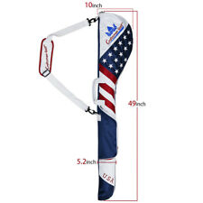 Authentic USA Flag GOLF Club Case Sunday Bag Range Carry Travel Golf Iron Carry