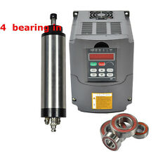 FOUR BEARING 1500W ER16 WATER COOLED SPINDLE MOTOR AND 1500KWVFD DRIVE INVERTER