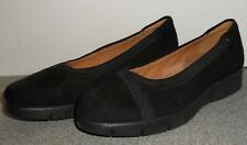 NEW CLARKS ARTISAN DAELYN HILL SUEDE LEATHER WEDGE LOAFERS SIZE 7 WIDE!