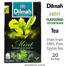 Dilmah MINT Flavoured Ceylon Black TEA Finelly Balanced Rich Flavour 20 Tea Bag
