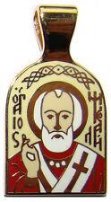 Medaille St Nicolas Pendentif religieux croix orthodoxe St Nicolas Bijou Chrétie