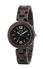 WeWOOD Mimosa Black Blackwood Wooden Women's Analog Quartz Round Wood Watch