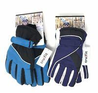 2 Pair Women's TRUFIT Waterproof Insulated Winter/Ski GLOVES, 1-Purple, 1-Aqua a