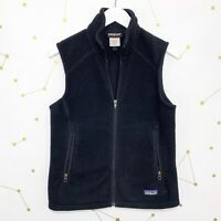 Patagonia Synchilla Vest Womens Size Small Black Full Zip Fleece Zippered Pocket