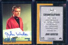 1999 Skybox Star Trek Original TOS Season 3 A63 John Winston Autograph Card