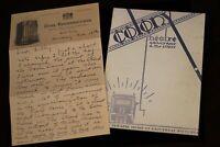 Walt Disney Letter to Lillian + PROGRAM  Colony Theatre 1928  2003 Mickey Mouse