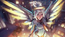 "Mercy ❤️ Overwatch Poster Silk ART wall decor print size 24x42"" OWmcy1"