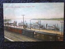 1908 Wharf Scene, Mississippi River in Memphis, TN Tennessee PC