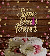 SAME PENIS FOREVER GLITTER CAKE TOPPER BRIDAL STAG DO HEN DO WEDDING DECORAT