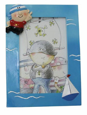 Photo Frame Pirate Picture Size 10x15 Kid's Room Summer Vacation Marine