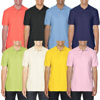 New River Road Mens Short Sleeve Polo Shirt Pique Plain T Shirt Summer Top Basic