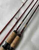 "Lot 2 Berkley Cherrywood Graphite CWS662M-6'6"" Trilene 4-12 Spinning Fishing Rod"