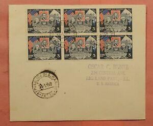 DR WHO 1948 SAN MARINO 3L BLOCK TO USA 170708