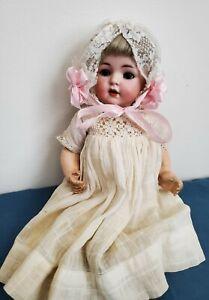 Antique German Kammer & Reinhardt Simon & Halbig 121 Bisque Head Doll Sleep Eyes