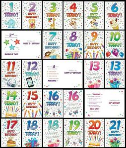 AGE 1 to 21 ~ BIRTHDAY CARD - From THAT FUNNY AGE Collection  2nd 3rd 8th 9th..