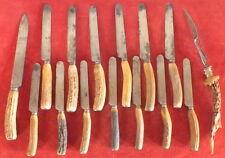 service a decouper le gibier cerf chasse + 13 couteaux