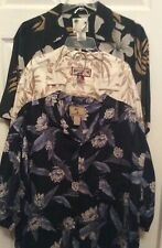 Hawaiian Shirts Lot Of 3 Men's Size L Caribbean Joe,Jamaica Jaxx, Banana Cabana