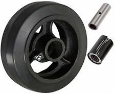 "CasterHQ - 5"" X 2"" Rubber ON CAST Iron Wheel - 450 LBS Capacity"