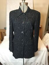 Beautiful Crepe Fabric Tamotsu Jacket Black Lightweight Small