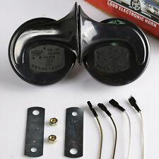 New Black Loud Dual-tone Snail Universal Electric Horn 12V 110 dB Car Truck Auto
