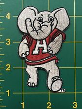 "Alabama Crimson Tide Elephant NCAA Iron On Embroidered Patch 3.25"" tall"