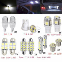 14Pcs Car White LED Interior Kit For T10&31mm Map Dome License Plate Lights Set