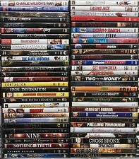HUGE Collection Lot of 50 ASSORTED DVD Movies - A list Titles! Best DVD Variety!