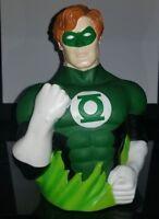 "Green Lantern Hal Jordan Vinyl 6"" Figural Bust Coin Bank New DC Comics 2006"
