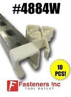 10/BOX Plastic White Open End Caps Unistrut Channel 1-5/8'' X 1-5/8'' #4884W