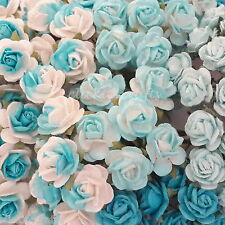 100 Mini Mulberry Paper Flowers Wedding Party Home Decor Art Craft Supply R2-608