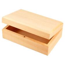 Holzschatulle,14 x 9 x 5 cm (innen 12,5x7,5x3cm), mit Magnetverschluss