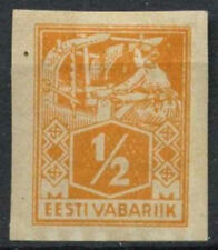 Mint Hinged Postage Estonian Stamps