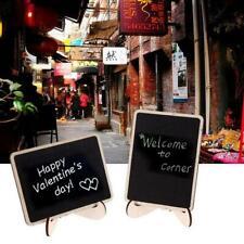 Mini Wooden Message Chalkboard&Stand Small Message C7G0 Wedding Board Offic Z8B3