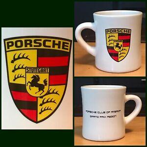 RARE Porsche Club Of America GRAND PRIX Region Coffee Tea Beverage Mug Cup PCA