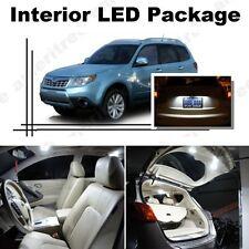 For Subaru Forester 1998-2014 White LED Interior kit + White License Light LED