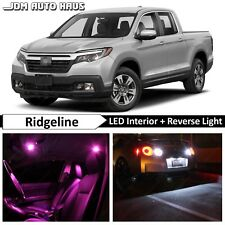 18x Bulbs Pink Interior Reverse LED Lights Bulb Fits Honda Ridgeline 2017 2018