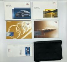 �Oem Audi B6 A4 2005 05 owners manual set guide with case 1.8t & 3.0
