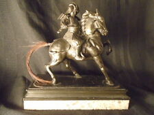 JAPANESE  SAMURAI WARRIOR  COLD PAINTED SPELTER FINELY  DETAILED  CIRCA 1900,s