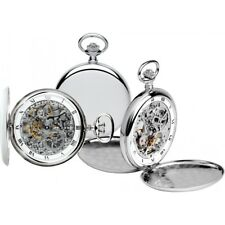 ROYAL LONDON Pocket Watch Jewelled Mechanical Skeleton Full Hunter 90016-01