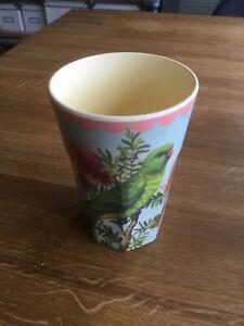 RICE-Becher/Latte Cup, Vintage, 400 ml, mit Wellensittich-Bild