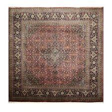 """8'9"""" x 8'9"""" Hand Knotted Wool Square 250 KPSI Tabrizz Oriental Area Rug Burgundy"""