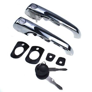 A Pair Outer Exterior Door Handles With Keys For VW Transporter 1969-1979