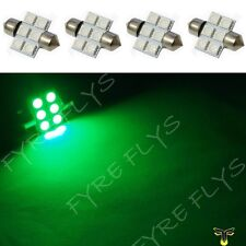 4 Green 31mm 6SMD festoon dome map interior LED light lamp DE3175 3022 3021 4xD1