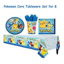 Pokemon Core Birthday Party Tableware Set Napkin Cups Plates Table Cover Pokémon