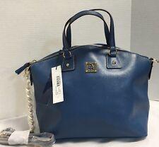 NWT*Dooney & Bourke*Saffiano Leather Satchel Shoulder Bag Purse* Denim Blue *