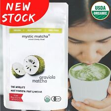 GRAVIOLA MATCHA Japanese 80g  SOURSOP Green tea powder by Mystic Matcha