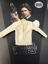 Hot Toys MMS261 Star Wars: A New Hope Han Solo crème blanche shirt Top 1/6 loose