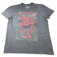 Marvel Men's Short Sleeve Spiderman Graphic T Shirt Gray Size XL