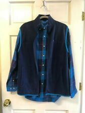 Crown And Ivy Mens Navy Blue Vest and Buttondown Shirt Medium NWOT