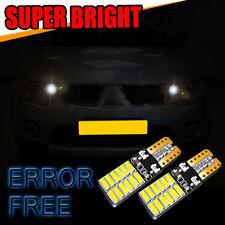 2x Peugeot Partner Bright Xenon White Superlux LED Number Plate Light Bulbs